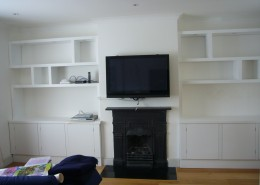 Shelves and cuboards