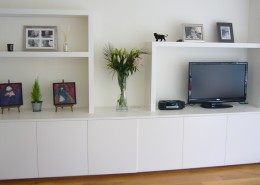 White Cupboard and Showcase