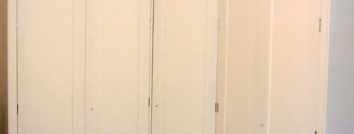 interior of corner cupboard